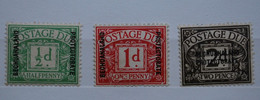 BOTSWANA - Colonie Anglaise - 3 Timbres Anglais Neufs (trace Charnière) Surchargés BECHUANALAND PROTECTORATE - 1885-1895 Kronenkolonie