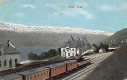 VOSS VESTLAND NORWAY~PANORAMA-RAILROAD-JERNBANE~1910 POSTCARD 51053 - Norvegia