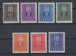 Dt. Besetzung 2.WK Serbien Portomarken Mi.-Nr. 16-22 Satz 7 Werte * - Occupation 1938-45