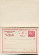 EGYPTE ENTIER POSTAL NEUF AVEC REPONSE     (RARE AVEC REPONSE) - Covers & Documents