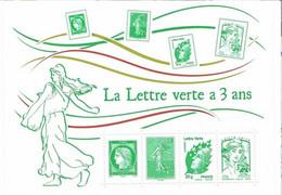 """France 2014 -  Feuillet """"La Lettre Verte A 3 Ans"""" - Neuf ** MNH - Otros"""