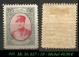 1933 - Mi. Nr. 645 - Irán