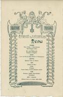 MENU  Banquet 5 Décembre 1904 Association Syndicale Artistes Prestidigitateurs.Présidence De Vère  Père - Menus