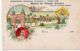 TORINO ESPOSIZIONE 1898 - RICORDO VILLAGGIO DABOMEY - TORINO - NON VIAGGIATA - Ausstellungen
