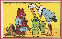 Le Renard Et La Cigogne. N°16. Illustration Jean Matet. Les Fables De La Fontaine. - Sonstige