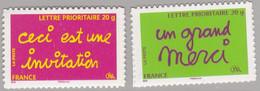 Adhésifs : 204 205 Ceci Est Une Invitation Et Un Grand  Merci Neuf Sur Support D'origine - Luchtpost
