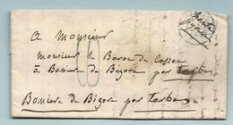 Baron De Cosson (ancien Général De La Révolution) à Bagnères De Bigorre Par Tarbes. LAC De Paris - 1801-1848: Precursors XIX