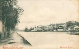 Lagarde CPA CP 57 Moselle Port Du Canal Carte Précurseur Assez Rare  Ed Hartmann Vic Sur Seille - Other Municipalities