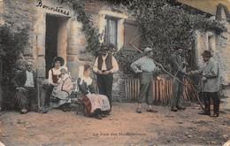 Cpa 1905 ±  SCÈNES CHAMPÊTRES ▬ La Paie Des Moissonneurs  ≠ Couple  ≠ Enfant ≠ Paysans  ≠ Faux ▬ E.L.D  (¬‿¬) ♦ - Cultures