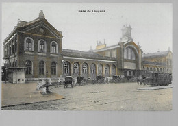 Liège - Gare Du Longdoz - Colorisé - Tram - Attelage - Circulé: 1908 - 2 Scans - Liège