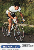 FRANCESCO MOSER E BICICLETTA BENOTTO - (rif. D58) - Cycling