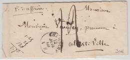 Frankreich - Chambery 1860 Papiere D'affaires Streifband N. Albertville Selten ! - Unclassified