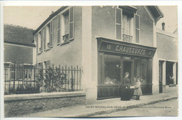 CPA 91 St SAINT MICHEL Sur ORGE - Cordonnerie BRUN - Chaussures - Magasin - Animation - Essonnes