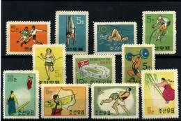 Corea Del Norte Nº 242/48, 262/65. Año 1960-61 - Corea Del Norte