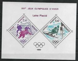 Olympische Spelen  1980 , Monaco - Blok  Postfris - Hiver 1980: Lake Placid