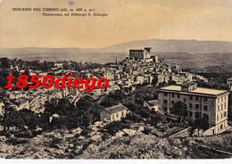 SORIANO NEL CIMINO - PANORAMA E ALBERGO S. GIORGIO F/GRANDE  VIAGGIATA 1952 - Viterbo