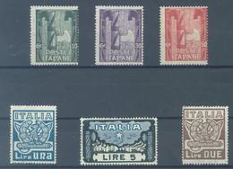 ITALY  - MNH/** - 1923 - MARCIA SU ROMA  - Yv 134-139  - Mi 177-182 - Sa  S. 26 141-146 -  Lot 23093 - Mint/hinged