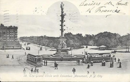 003248 - USA - THE GRAND CIRCLE WITH COLOMBUS MONUMENT - NEW YORK CITY - PUB. THE ROTOGRAPH CO. - 1906 - Central Park