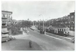 Voorburg Blauwe Tram Tramway Parkweg Strassenbahn Trolley Leiden NZH 1950's - Voorburg