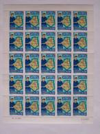 ALGERIE Feuille De 25 Timbres 1975 Sûreté Nationale - Algeria (1962-...)