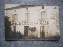 CARTE PHOTO A SITUER - CAFE DE LA GARE - Andere