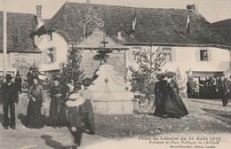 Fêtes De Lacalm 31 Août 1913 ( Fontaine Et Place Publique ) - Other Municipalities