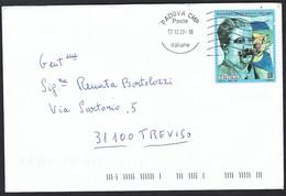 Italia 2020; Ruggiero Leoncavallo ( Emesso Nel 2019 ) Viaggiata Da Padova A Treviso – 17.12.20 - 2011-...: Marcophilia