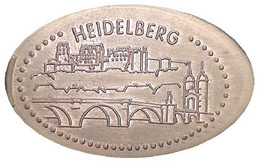 02485 GETTONE TOKEN JETON FICHA ELONGATED COIN TURISTICO HEIDELBERG - Souvenir-Medaille (elongated Coins)