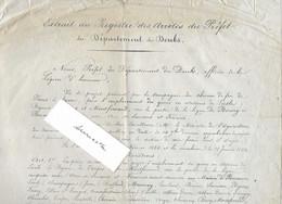 1861 Affiche Enquête Publique Chemin Fer / Création Ligne Bourg En Bresse- Besançon / Liesle, Byans, Torpes Montferrand - Otros