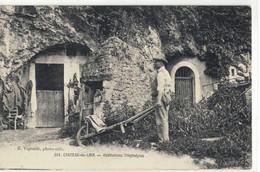 CPA   CHATEAU -du- LOIR  Habitations Troglodytes   N° 201 - Chateau Du Loir