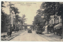 CPA  COURBEVOIE  Boulevard De Verdun , Station Des Tramways  N° 46 - Courbevoie