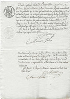 1832 Convention Entre Guillaume Faton Et Joseph Tarin / Byans 25 Doubs / Mur Mitoyen / Cachet Fiscal - Otros