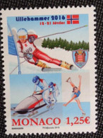 MONACO 2016 Y&T N° 3018 ** - LILLEHAMMER - Unused Stamps