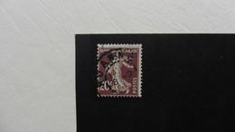 France :Perfins :timbre Perforé  CL  : Semeuse Fond Plein  N° 139 Oblitéré - Perfins