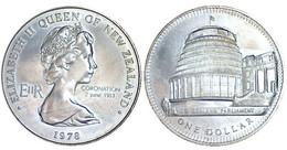 02478 MONETA COMMEMORATIVA NEW ZEALAND ELIZABETH II ONE DOLLAR 1978 - Nuova Zelanda