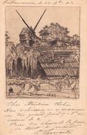 PARIS 18 - Petit Moulin DEBRAY 1885  ( Carte Ancienne Illustrée Sans Doute Par Eugéne DELATTRE ) - Distrito: 18