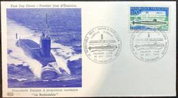 FDC - Le Redoutable - Sous-MArin à Propulsion Nucléaire - N° 1615 - Cachet De Cherbourg - 1960-1969
