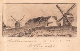 PARIS 18 - Butte MONTMARTRE  Coté NORD 1889 ( Carte Ancienne Illustrée Par Eugene DELATTRE ) Moulin A Vent - Distrito: 18