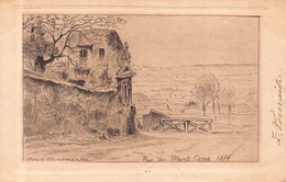 PARIS 18 - Vieux MONTMARTRE  - Rue Du MONT CENIS 1874  ( Carte Ancienne Illustrée Par Eugene DELATTRE ) - Distrito: 18