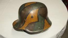 TRES BELLE COQUE DE CASQUE CAMOUFLE ALLEMAND MOD 1916 !!! - 1914-18