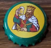 Luxembourg Capsule Bière Beer Crown Cap Battin Gambrinus Verte Et Jaune - Beer