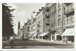 Hälsingborg Tram Tramway Strassenbahn Järnvägsgatan Fahrrad 60er - Schweden