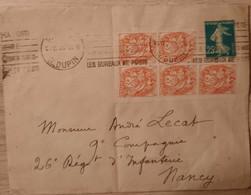 France/French Stamp  1926 140E2+109 Bloc De 5  TB - Briefe U. Dokumente
