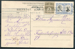 1907 Omars Mosque, Jerusalem Palestine Postcard. Denmark Christmas Charity Seal - Briefe U. Dokumente