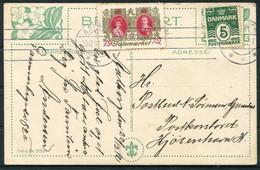 1912 Denmark Christmas Charity Seal Postcard Aarhus - Briefe U. Dokumente