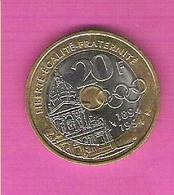 Monnaie Commémorative FRANCE 20 Francs Pierre De Coubertin 1994 Anneaux Olympiques TTB - Commémoratives
