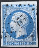 14A Petit BdF (variété Filet N), Obl PC 477 Bourg-st-Andéol (6 Ardèche ) Ind 4 - 1849-1876: Classic Period