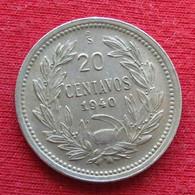Chile 20 Centavos 1940 KM# 167.3  Chili - Chili