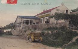 ESSONNES - Cpa Couleurs Toilée -ayant Voyagée- Bas Vigons Maison Pernot - Animations Vieux Tacot- YM - Essonnes