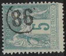 """JOUR De L'AN"" N° 86 S/ SAGE - 1877-1920: Semi Modern Period"